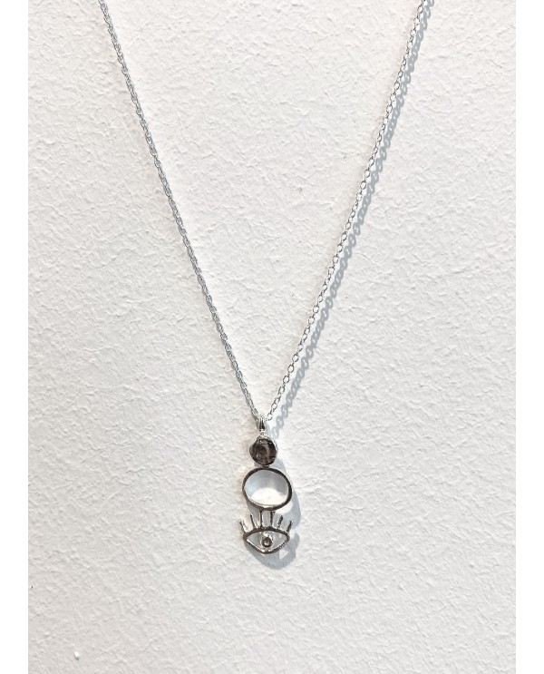 Cleopatra Tower Silver Necklace