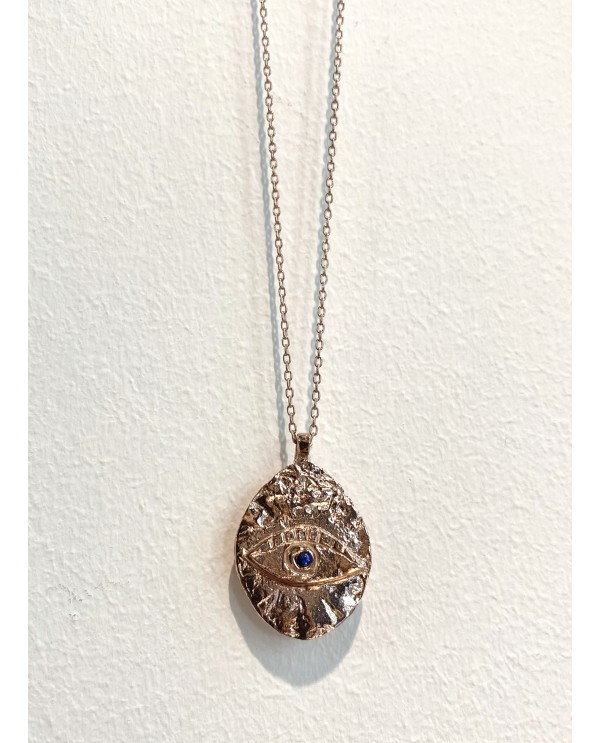 Cleopatra Swarovski Eye Gold Plated Necklace