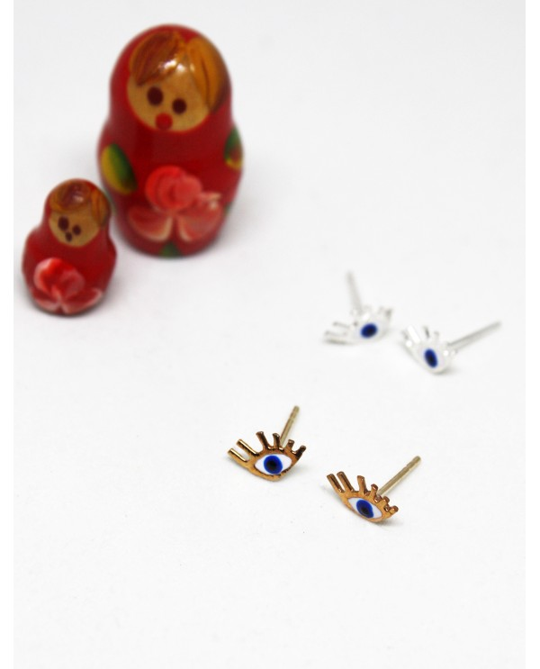 Tiny Evil Eye Earrings