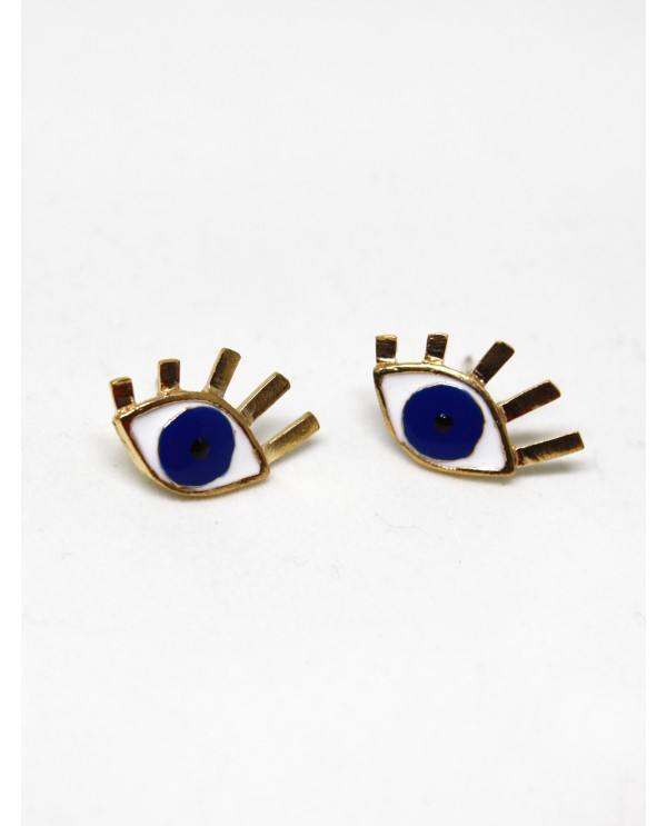 Medium Evil Eye Bronze Earrings