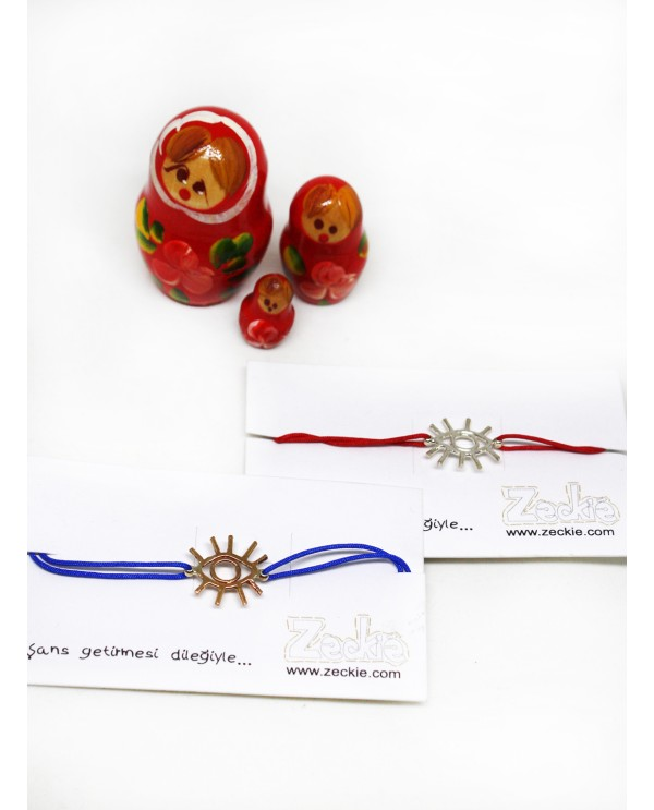 Wire Evil Eye Bracelet