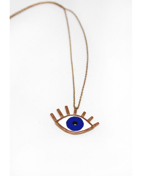 Big Evil Eye Gold Plated Necklace