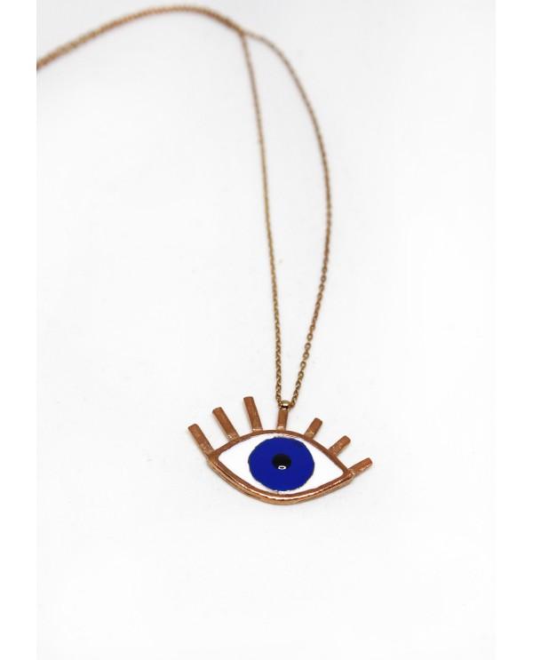 Big Evil Eye Gold Plated Necklace