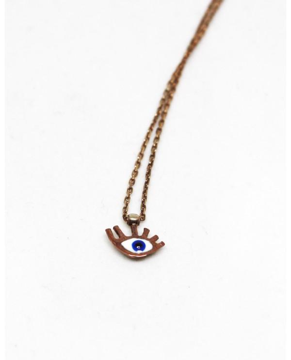Tiny Evil Eye Gold Plated Necklace