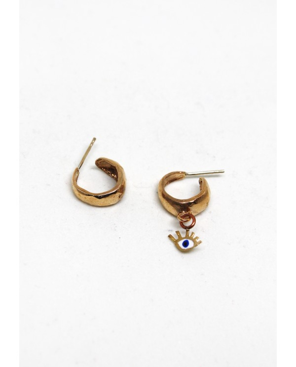 Tiny Evil Eye Hoops