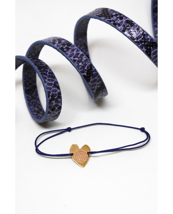 Flower of Lİfe-Heart Bracelet