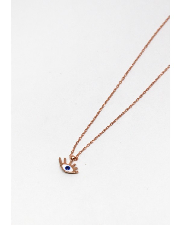 Tiny Evil Eye Gold Plated Necklace