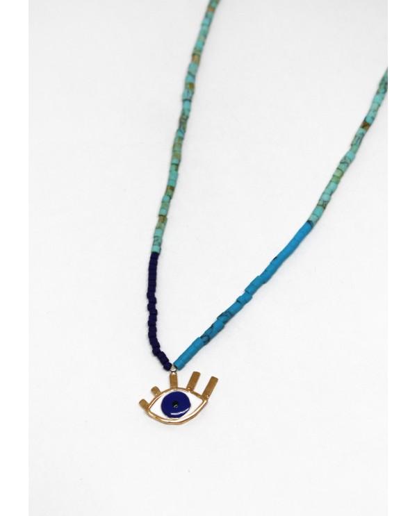 Medium Evil Eye Beaded Necklace