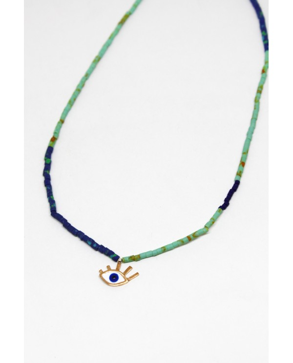 Small Evil Eye Beaded Necklace