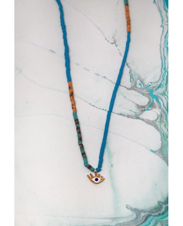 Tinny Evil Eye Beaded Necklace