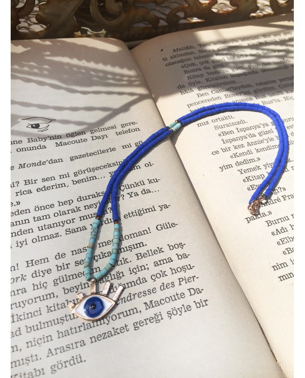 Medium Evil Eye Beaded Necklace