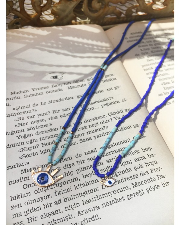 Tinny Evil Eye Beaded Necklace