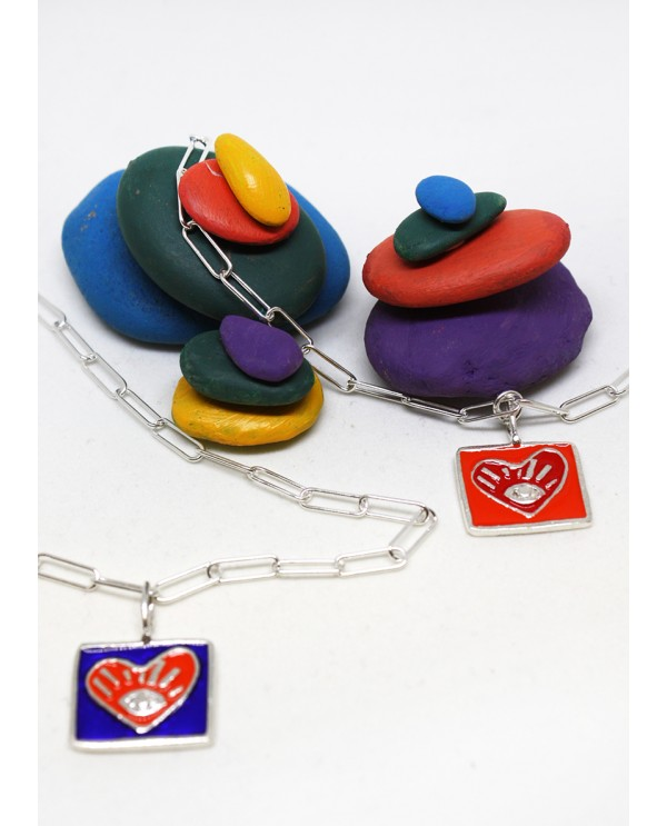 My Heart Square Silver Bracelet