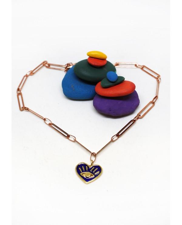 My Heart Bronze Necklace