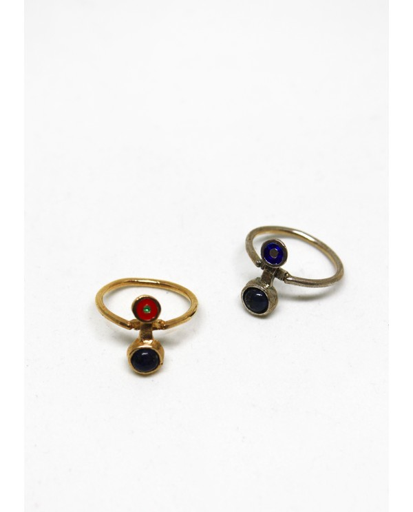 Gold Galaxy Lapis Ring