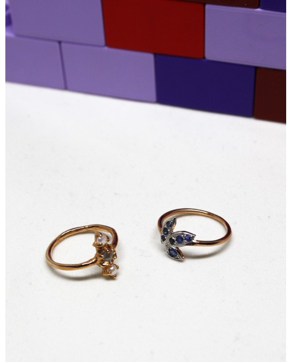 Wild Sapphire Gold Ring