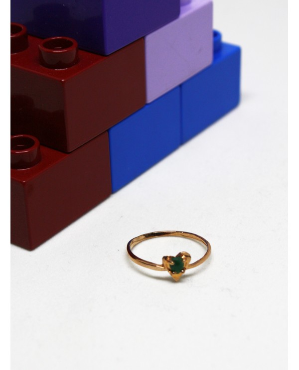 Heart Emerald Gold Ring