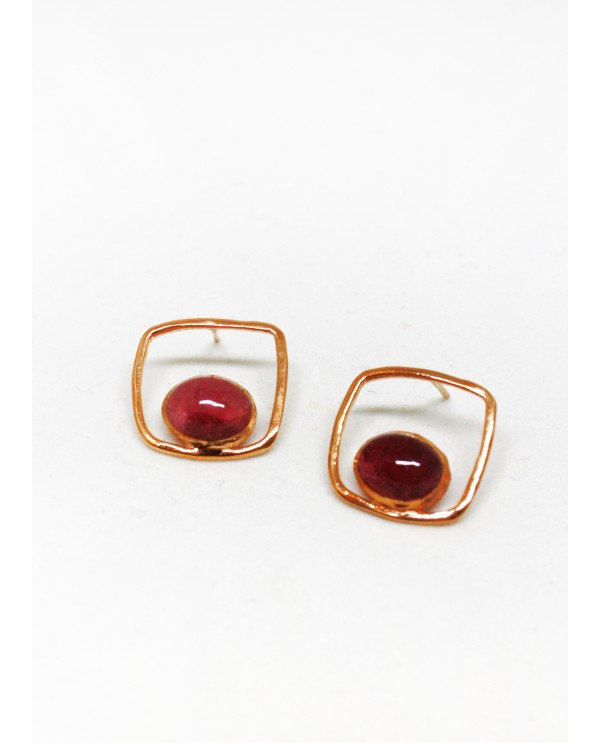 Square Tourmaline Earrings-Classics
