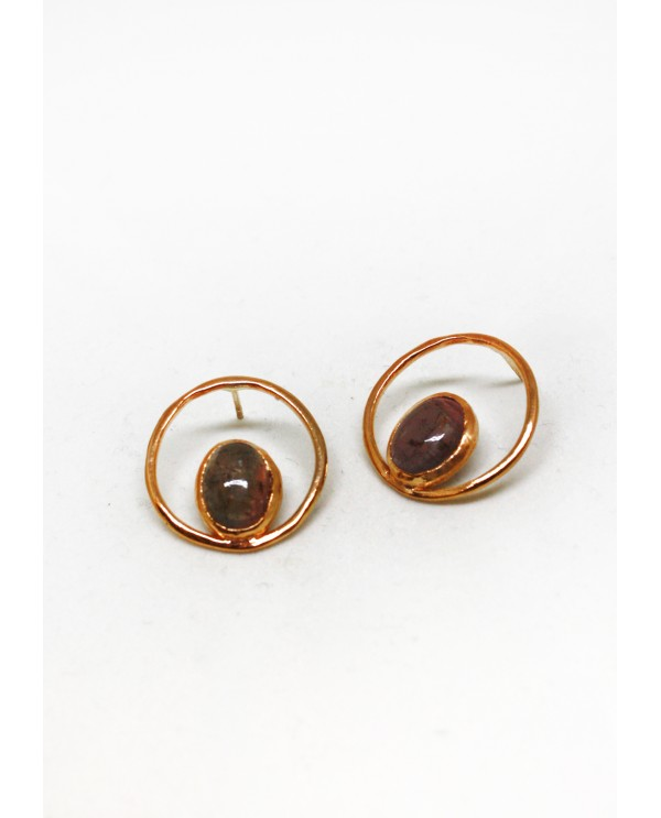 Circle Tourmaline Earrings