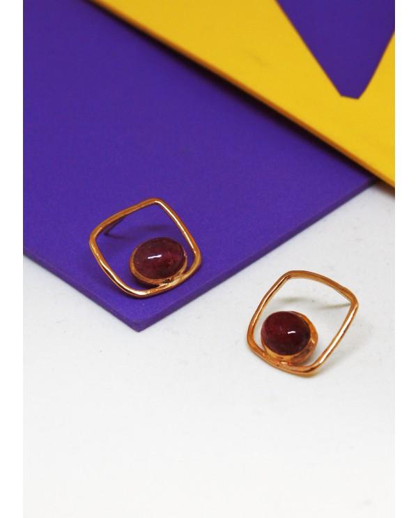Square Tourmaline Earrings-Classics