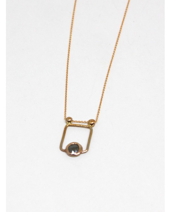 Josephine Raw Square Necklace