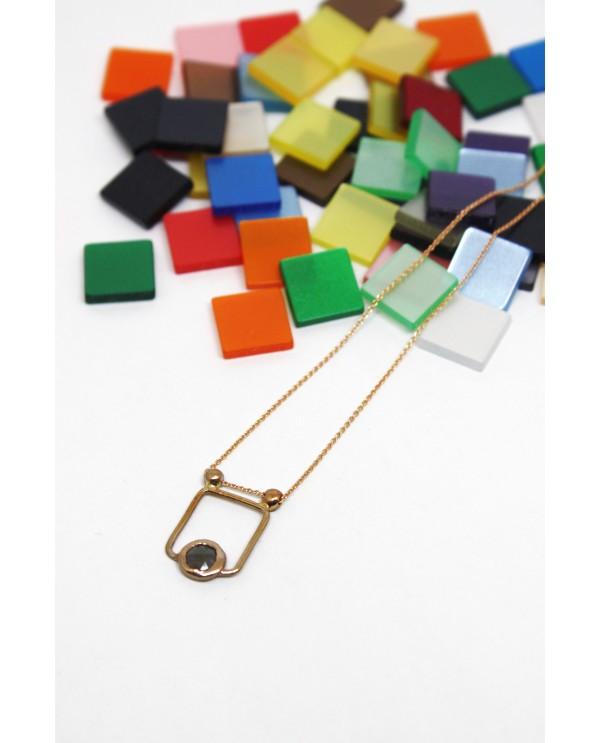 Josephine Raw Square Necklace