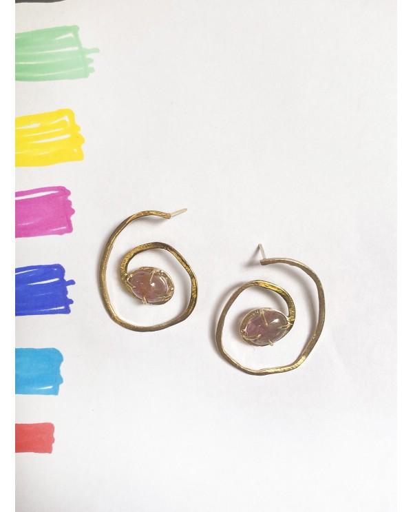 Spiral Tourmaline Earrings