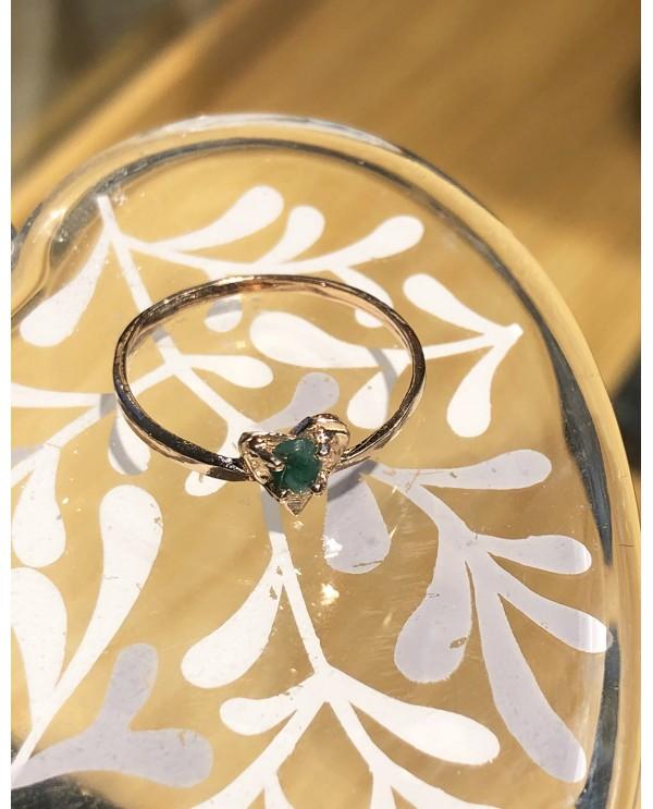 Heart Emerald Gold Ring