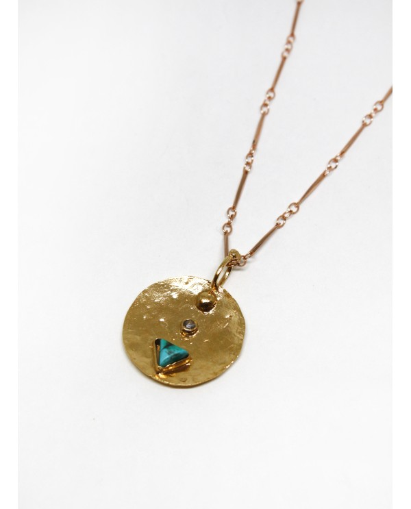 Locket Triangle Necklace