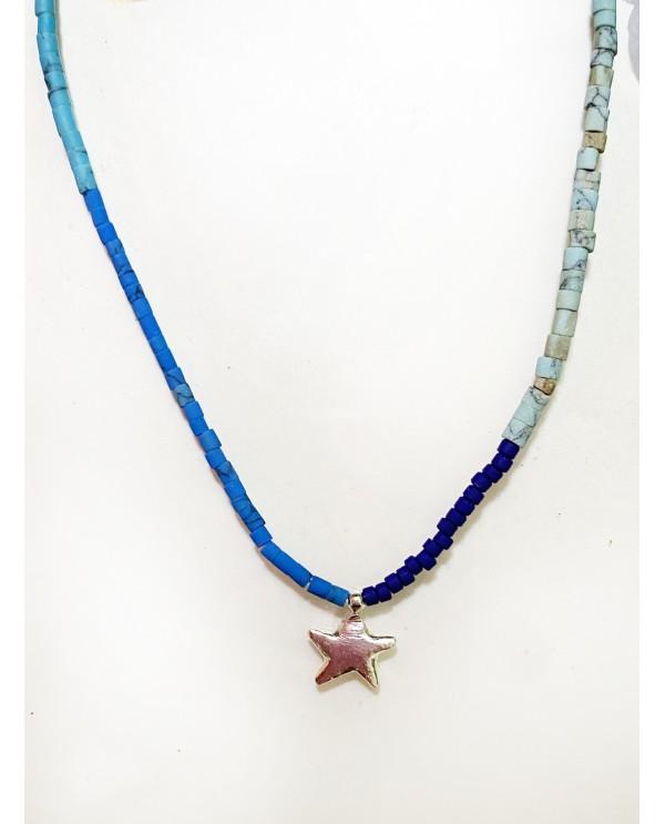 Chubby Star Beaded Necklace