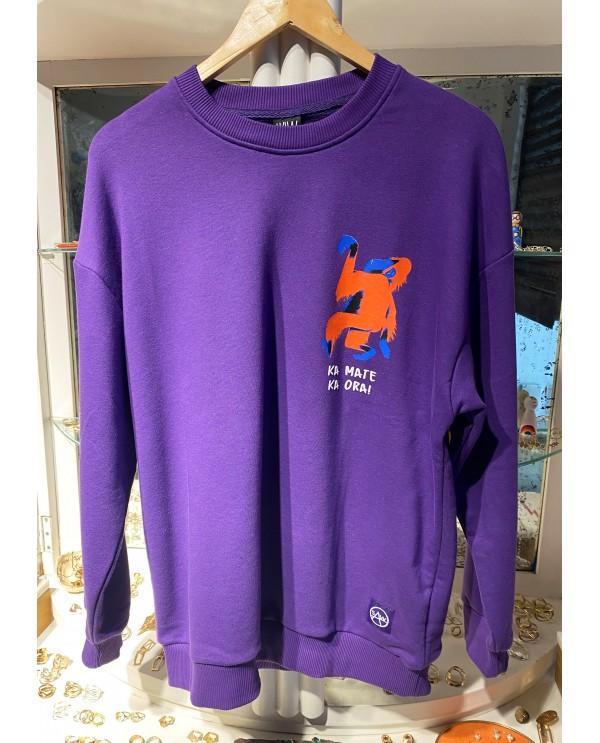 Purple King Kong Sweatshirt