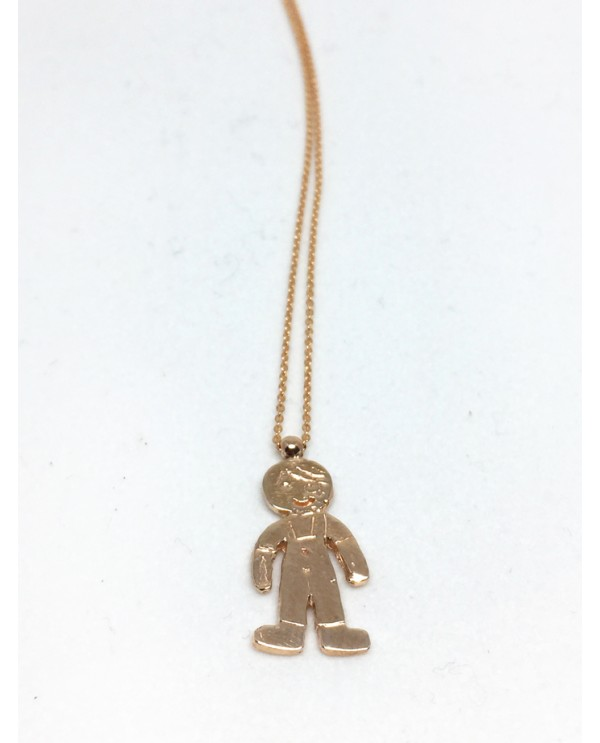 Cookie Boy Gold Necklace