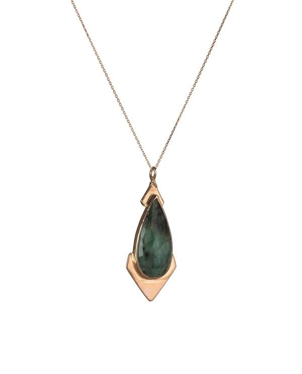 Topkapı Emerald Gold Necklace
