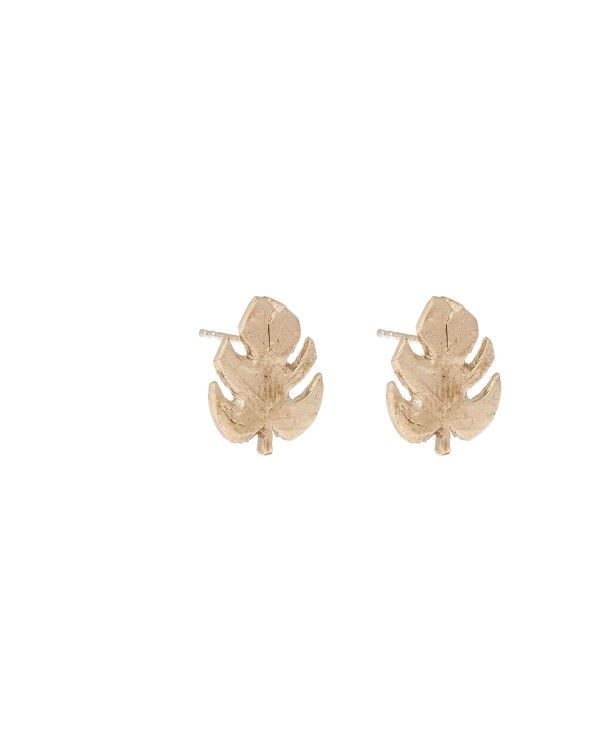 Monsera Earrings