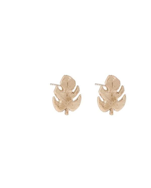 Monsera Earrings